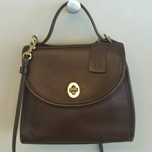 Coach vintage Court top handle bag. Made in USA